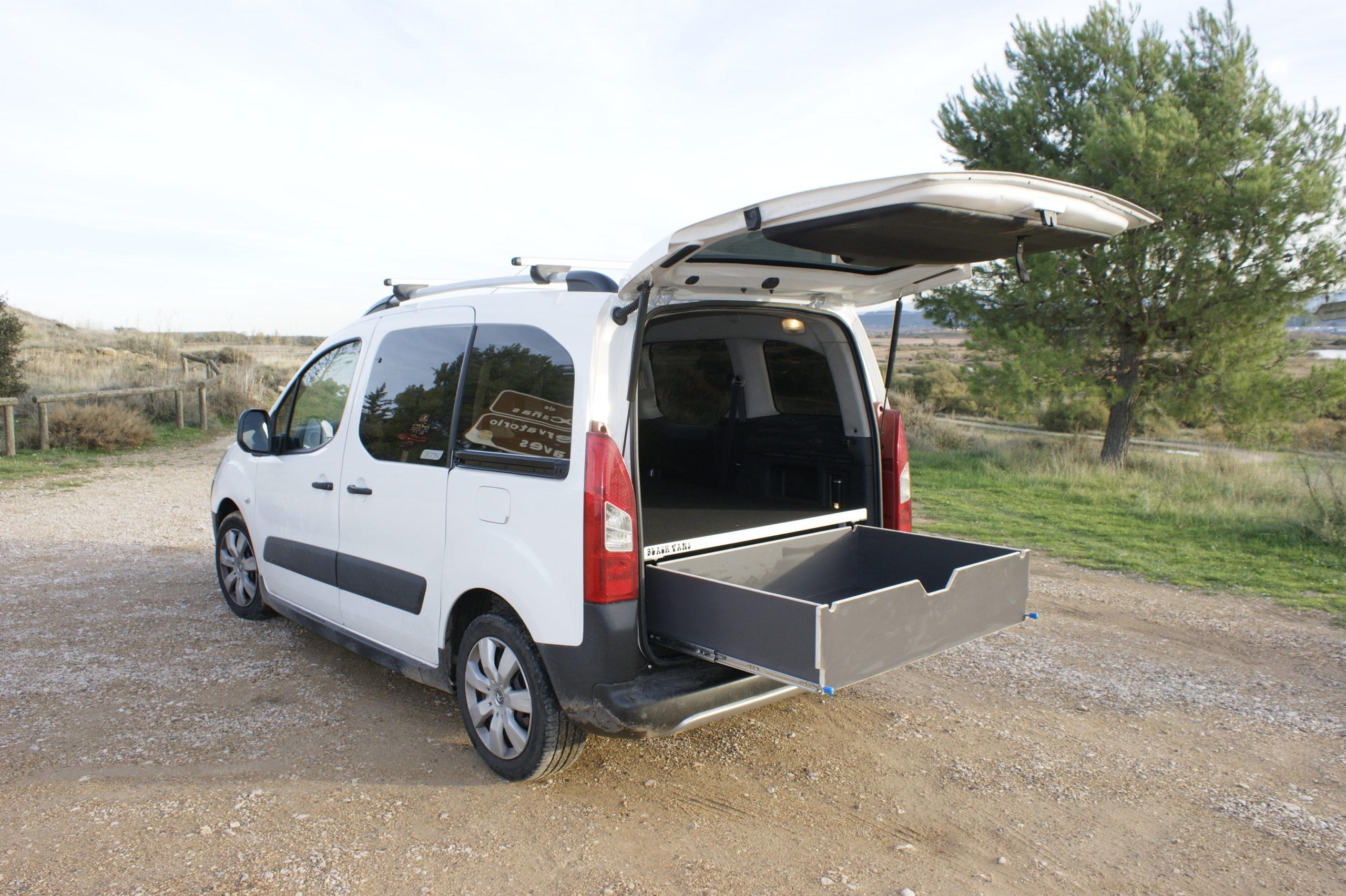 Kit-camper-Peugeot-Partner-Cajonera
